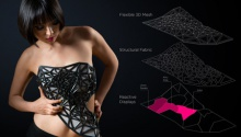 A 3D printed dress that disappears when you tweet
