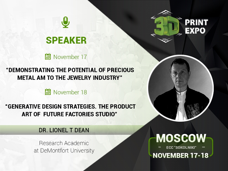 3D printing potential in jewellery: lecture and case studies from the English expert