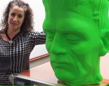 3DP Unlimited напечатала гигантскую голову Франкенштейна в преддверии Хэллоуина