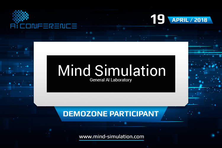 AI Conference exhibitor is artificial intelligence laboratory Mind Simulation
