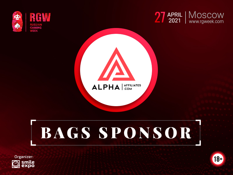 Alpha Affiliates – Affiliate Program in the Gambling Niche To Become a Sponsor of Bags at Russian Gaming Week 2021