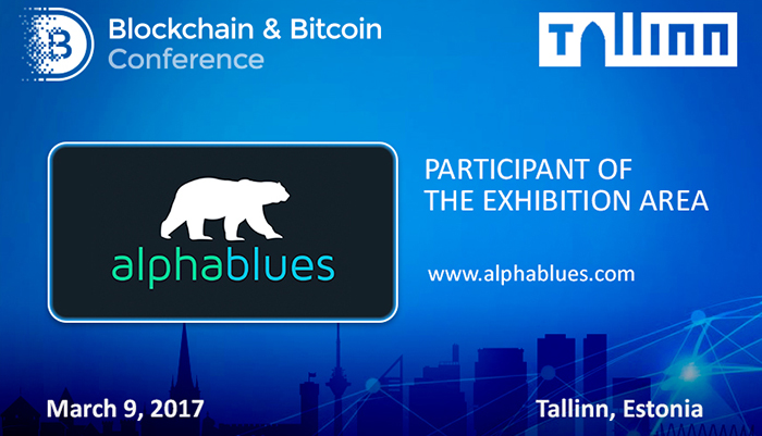 AlphaBlues presented its developments at Blockchain & Bitcoin Conference Tallinn