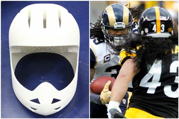 Американцы печатают на 3D-принтере безопасные шлемы для футбола