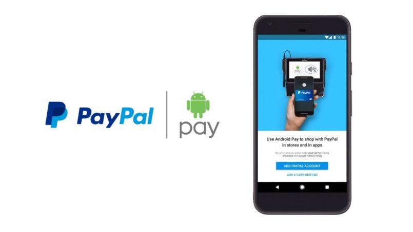 Android Pay станет поддерживать кошелек PayPal