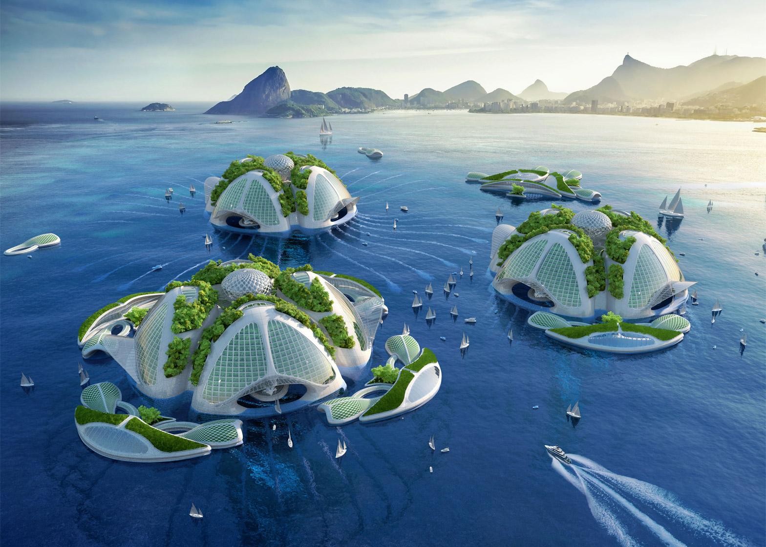Архитектор предлагает печатать на 3D-принтере подводные города
