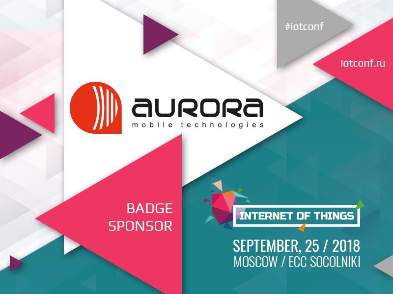 AURORA Mobile Technologies: Badge Sponsor of IOT Conference