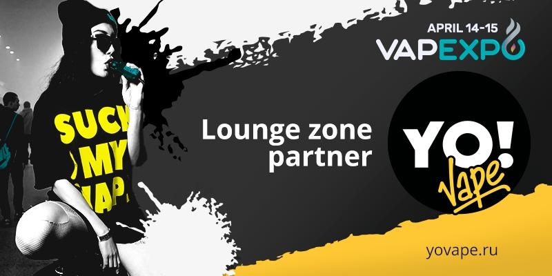 Award-winning manufacturer YoVape became Lounge zone partner of VAPEXPO Kiev