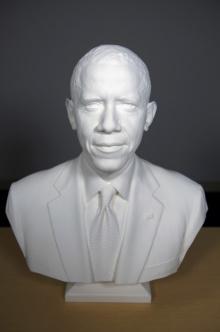 Барак Обама - первый в истории США президент, которого отсканировали и напечатали