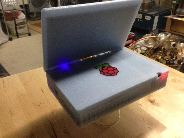 Беспроводной компьютер PiBook на Raspberry Pi 2, созданный с помощью 3D-печати