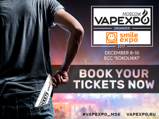 Book tickets for December VAPEXPO Moscow!
