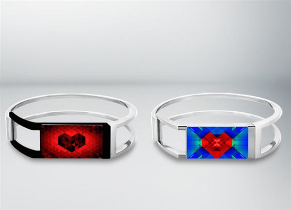 Браслет с 3D-печатным уникальным графическим украшением
