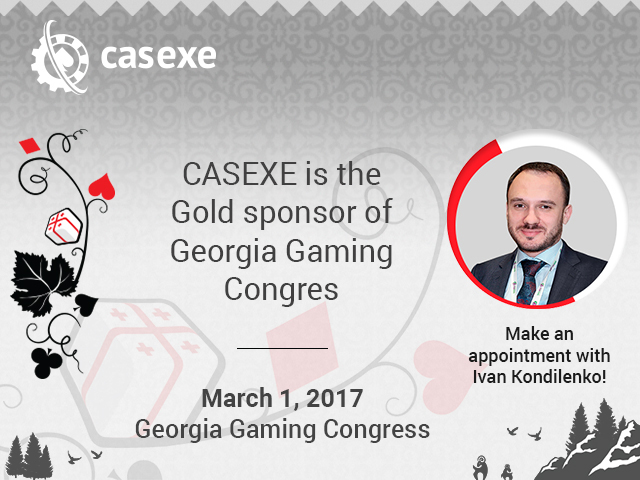 CASEXE is a Golden Sponsor of Georgia Gaming Congress