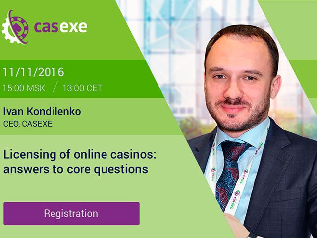 CASEXE to hold webinar on online casino licensing