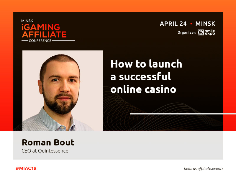 CEO at Quints Roman Bout to deliver a presentation about online casino launching