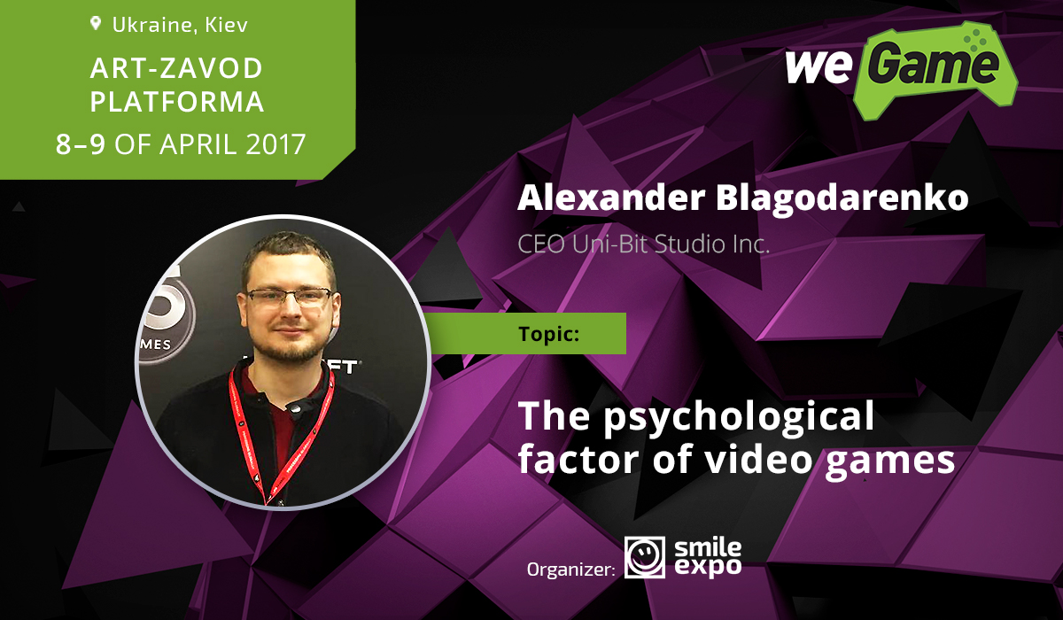 CEO at Uni-Bet will speak about the psychological factor of video games at WEGAME 3.0