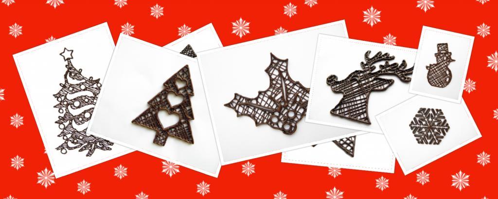 Choc Edge Introduces New Christmas 3D Printed Chocolate Design