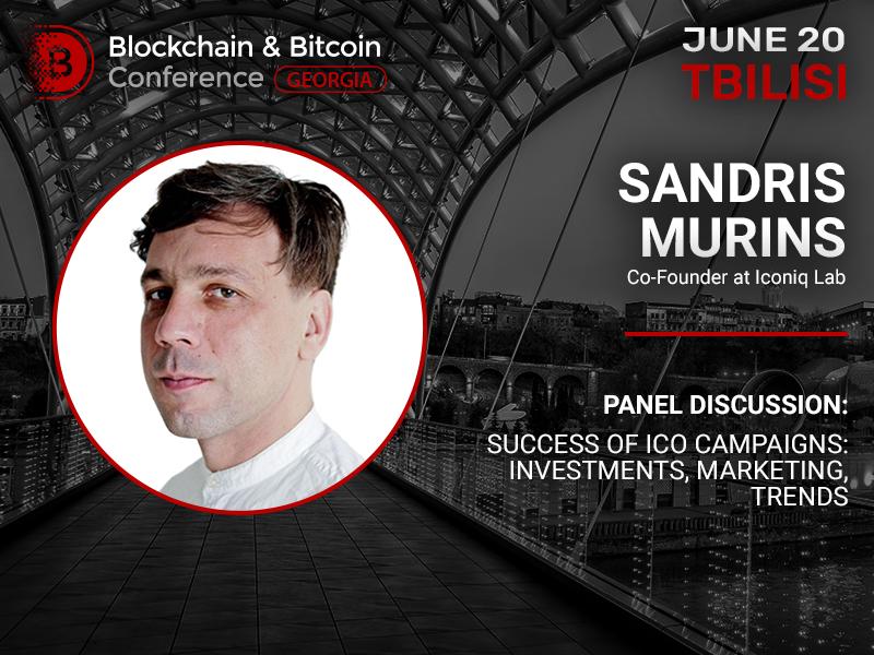 Co-founder at Iconiq Lab to reveal the secrets of successful ICO at Blockchain & Bitcoin Conference Georgia