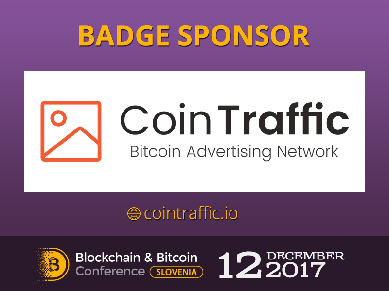 CoinTraffic: Sponsor of Slovenian major event of cryptocurrency and blockchain industry
