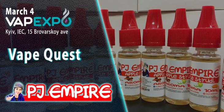 Complete the Vape Quest at VAPEXPO Kiev 2017 and get Austrian e-liquids from PJ Empire