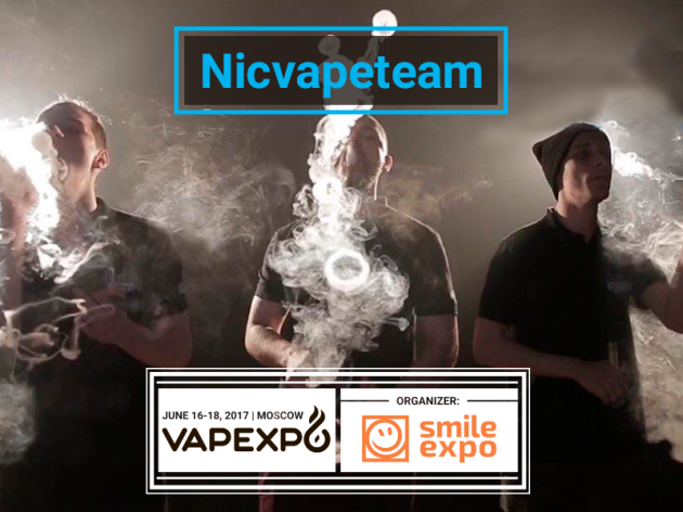Cool vape tricks by Nicvapeteam at VAPEXPO Moscow 2017