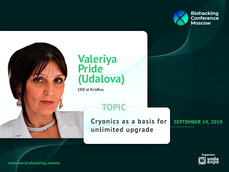 Cryonics as a Way to Defeat Death: Presentation by Valeriya Pride (Udalova), CEO at KrioRus