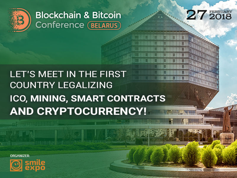 Crypto experts to gather in Minsk on February 27 at Blockchain & Bitcoin Conference Belarus
