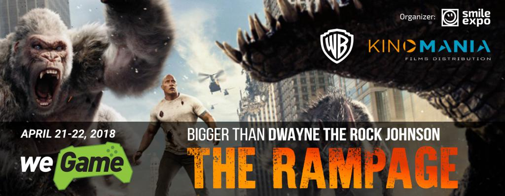 Dive into the world of fantastic action Rampage in the Warner Bros. Pictures booth at WEGAME 4.0
