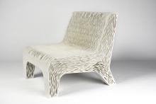 Дизайнер напечатала мягкий стул