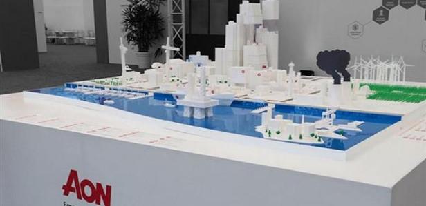 Для компании Aon на 3D-принтере изготовили самую большую модель города из ныне существующих