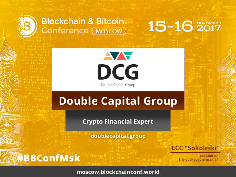 Double Capital Group – Crypto Financial Expert at Blockchain & Bitcoin conference Moscow