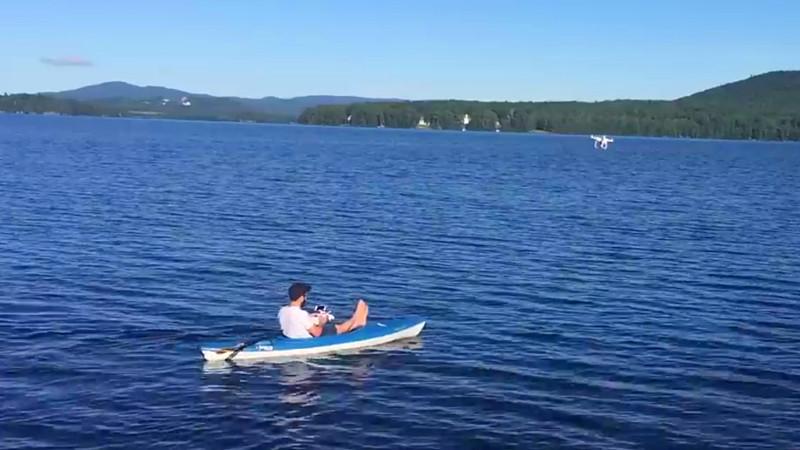 Дрон-гребля: весла больше не нужны