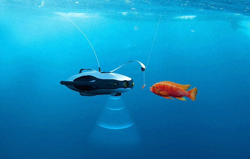 PowerRay drone for underwater filming and fishing