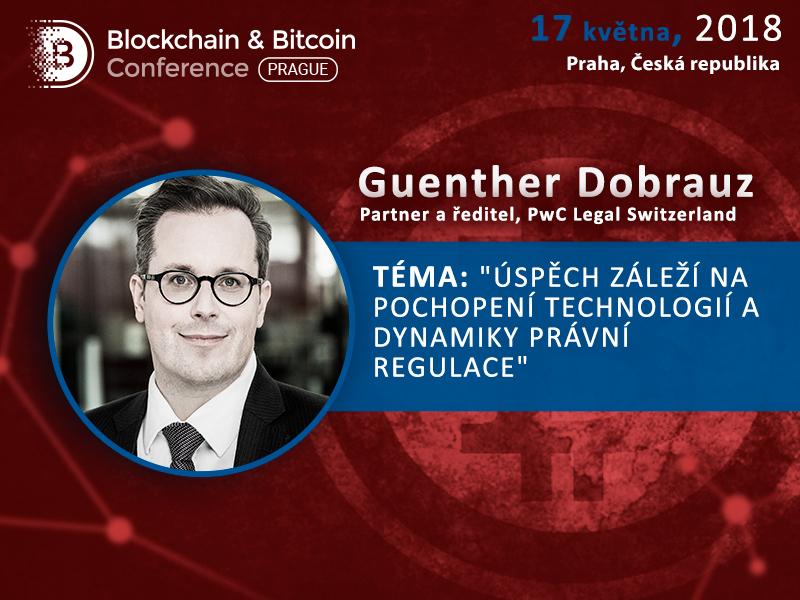 Ředitel PwC Legal Switzerland Guenther Dobrauz-Saldapenna poví o dynamice a budoucnosti inovací na Blockchain & Bitcoin Conference Prague