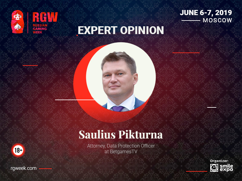 Expert Opinion: GDPR Concept, Focus Areas, and Application in Gambling