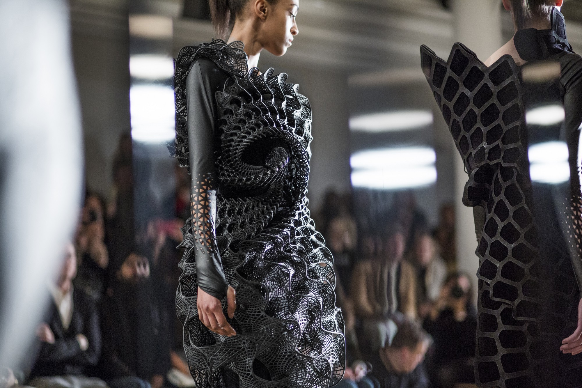 History of 3D printed clothing: from fragile figured constructions to flamboyant armor