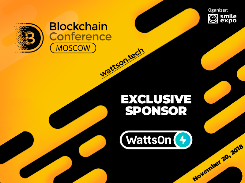 Exclusive Sponsor of Blockchain Conference Moscow: WattsOn – mining equipment provider