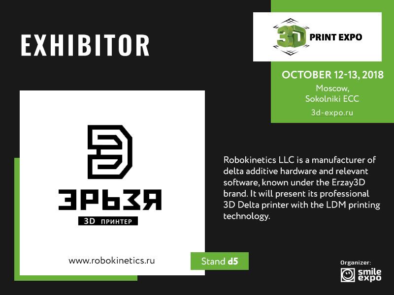 Exhibitor of 3D Print Expo: Erzay 3D Delta printer that uses liquid ceramics