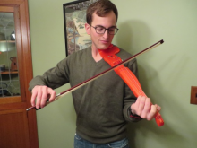 F-F-Fiddle: a fully 3D printed electric violin made on a home 3D printer