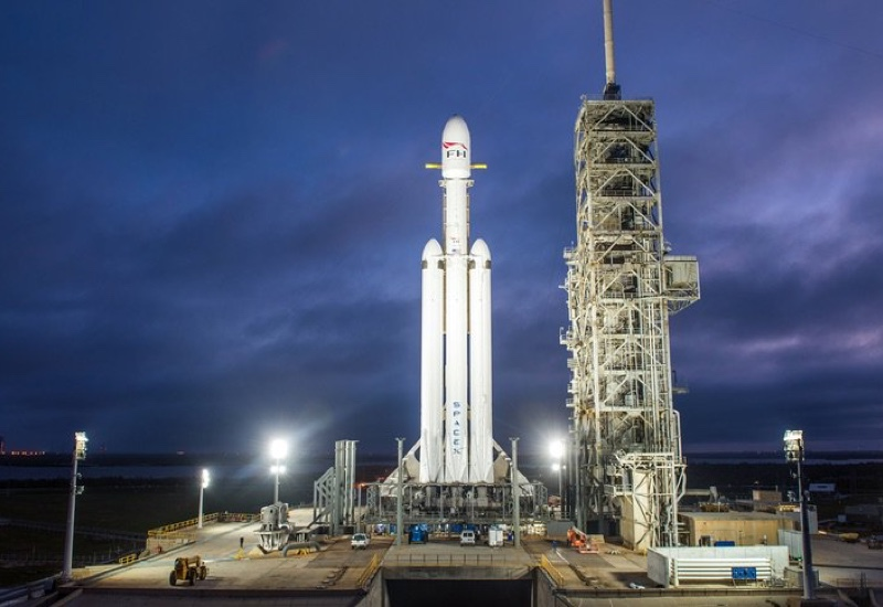 Falcon Heavy will be orbited in a week's time