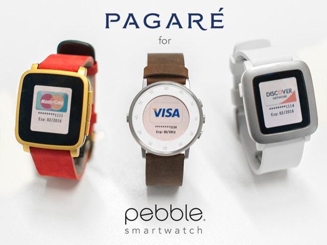 Fit Pay Pagaré – ремешок для «умных» часов Pebble с поддержкой мобильных платежей