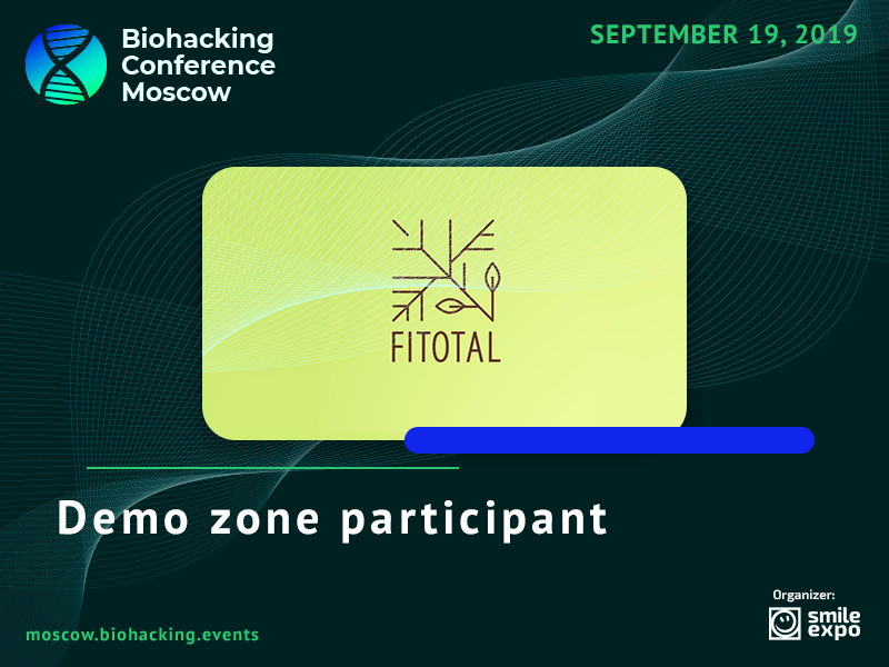 FITOTAL Metabiotic at Biohacking Conference Moscow Demo Zone