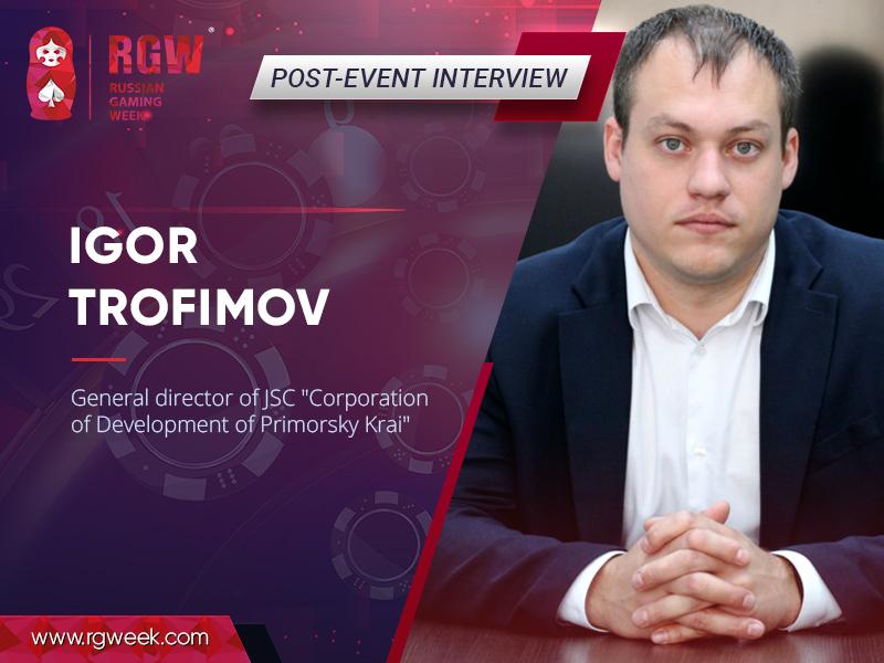 Foreign investors are afraid of Russia: Igor Trofimov, General Director at the Primorsky Krai Development Corporation
