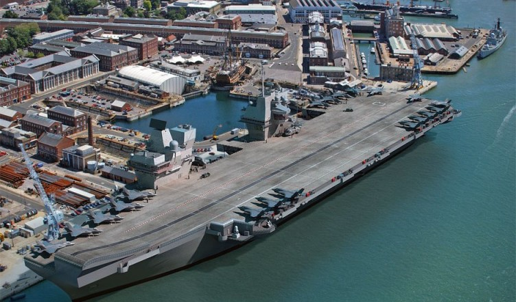 An amateur photographer bypassed the protection system of Britain's largest aircraft carrier