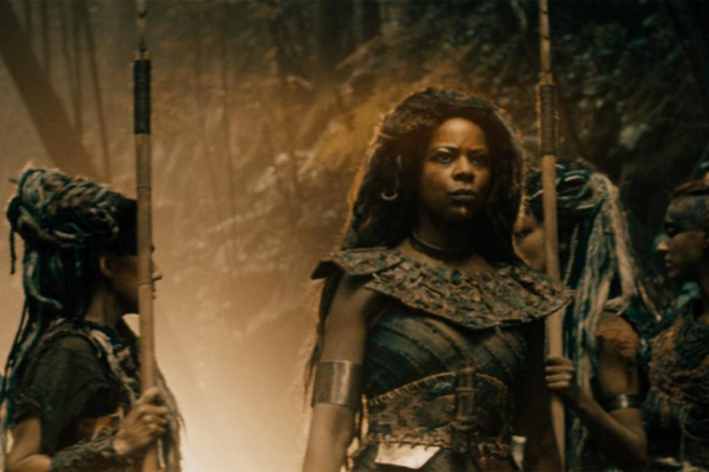 the presence of dark-skinned elves