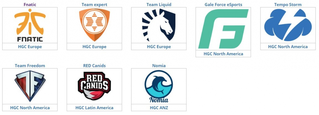 Heroes of the Storm Global Championship, eSport, Участники «Западной стычки»