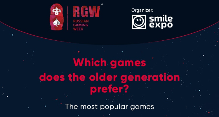 Gambling preferences of the older generation. Infographics