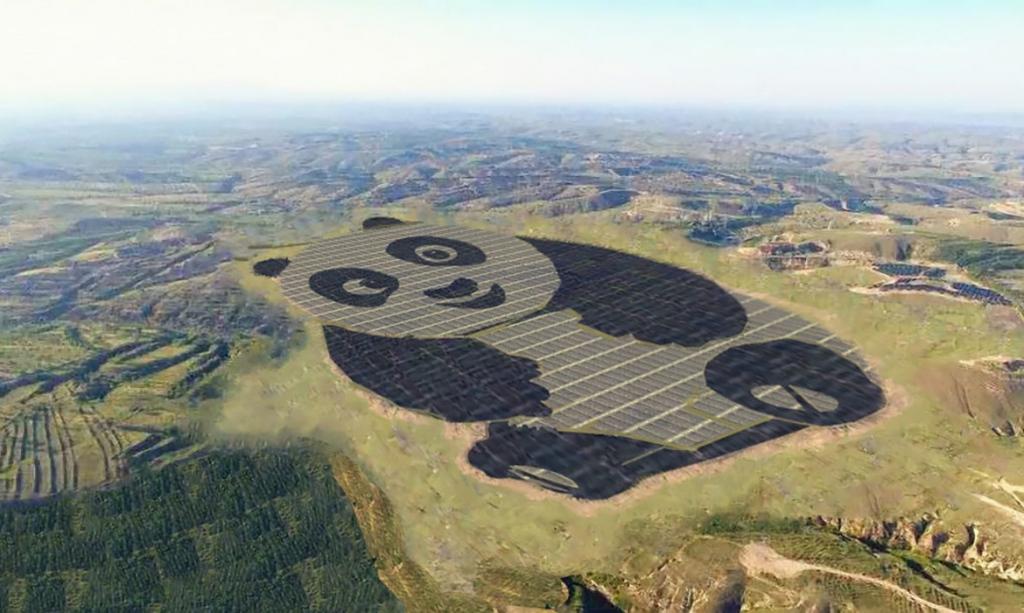 Животные и технологии: панда, которая перерабатывает солнечную энергию