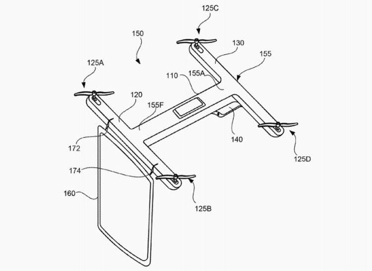 Google запатентовал идею офисного дрона