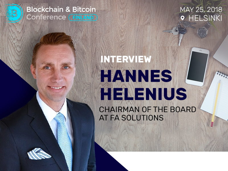 Hannes Helenius, FA Solutions: Cryptocurrencies and blockchain should be as globally harmonized as they can be