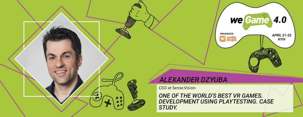 How to make the world's best VR game: Alexander Dzyuba will tell the audience of WEGAME 4.0
